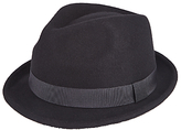John Lewis Wool Trilby Hat, Black