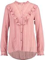 Saint Tropez STRIPED SHIRT W. RUFFLES Shirt pink