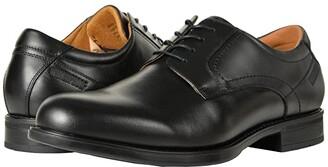 Florsheim Midtown Waterproof Plain Toe Oxford (Black Smooth) Men's Plain Toe Shoes