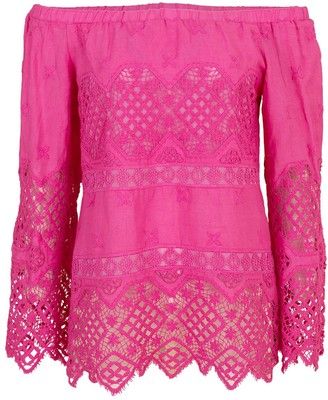 Temptation Positano Hot Pink Buenos Aires Shoulder Top
