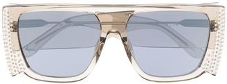 Linda Farrow Magda crystal mask sunglasses