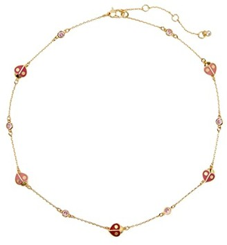 Kate Spade Animal Party Ladybug Necklace (Red Multi) Necklace