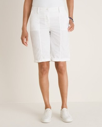 Chico's No-Stain White Cargo Shorts