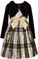 Bonnie Jean Plaid Dress & Velvet Cardigan - Girls 7-16 and Plus