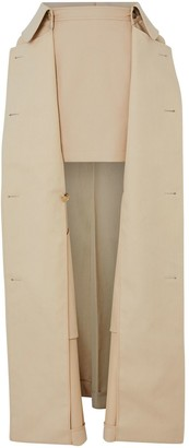 Burberry Detachable Trench Coat Detail Mini-Skirt