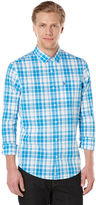 Original Penguin P55 Picnic Plaid Long Sleeve Shirt - Roll Up Sleeve
