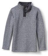 Classic Little Boys Sweater Fleece Popover-Dark Sapphire Heather
