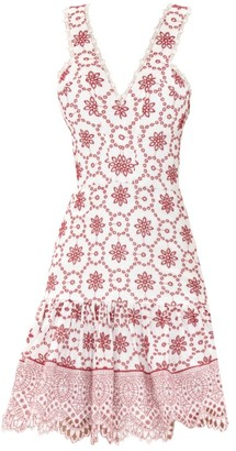 Alexis Villa Eyelet Lace Flounce Dress
