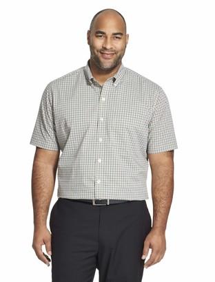 Van Heusen mens Big and Tall Flex Short Sleeve Check Button Down Shirt