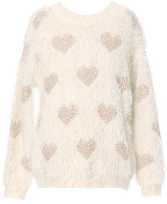Truly Me Kids' Gold Heart Sweater