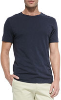Theory Slub Crewneck Short-Sleeve T-Shirt, Navy