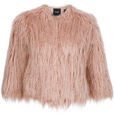 Theory synthetic fur coat - women - Cotton/Acrylic/Modacrylic - M