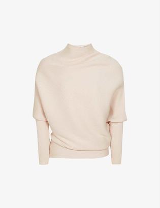 Reiss Tyler asymmetric wool-blend jumper