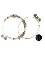 Alex and Ani Beaded Expandable Wire Bangles - Set of 2