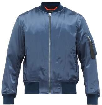 Rag & Bone Upcycled Military Bomber Jacket - Mens - Blue