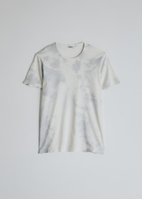 Need Women's Short Sleeve Dye T-Shirt In Dove Tie-Dye in Dove Grey Tie-Dye, Size Extra Small | 100% Cotton