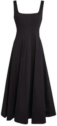 STAUD Wells Poplin Midi Dress