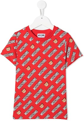 MOSCHINO BAMBINO repeat logo T-shirt