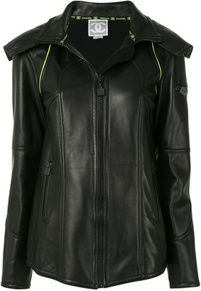 Chanel Pre Owned 2004 Hooded Leather Jacket