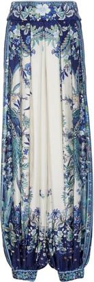 Zimmermann Glassy Pleated Silk Pants