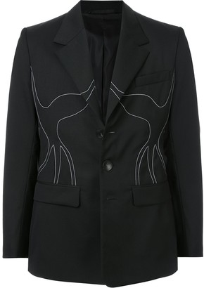 Namacheko Embroidered Single Breasted Blazer