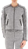 Karl Lagerfeld Women's Grey Cotton Outerwear Jacket.