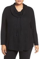 Sejour Plus Size Women's Drawstring Cowl Neck Pullover