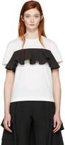Edit White and Black Ruffle T-shirt