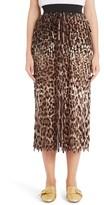 Dolce & Gabbana Women's Leopard Print Fringe Pencil Skirt