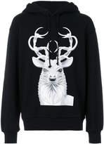 Juun.J deer print hoodie