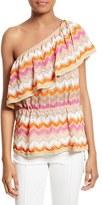 M Missoni Women's Metallic Knit One-Shoulder Top