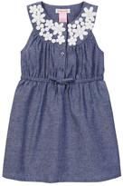 Design History Flower Chambray Dress (Toddler & Little Girls)