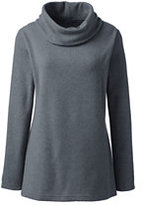 Classic Women's Cozy Fleece Cowlneck Tunic-Coal Heather