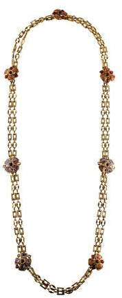 Chanel Gripoix Floral Station Necklace