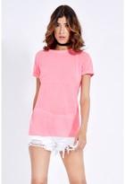 Select Fashion Fashion Washed Contrast Lattice T-Shirt T-Shirts - size 8