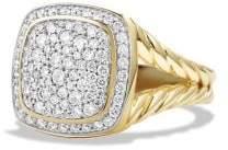 David Yurman Albion® Ring With Diamonds In 18K Gold, 11Mm