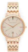 Vince Camuto Rose Goldtone Classic Link Watch