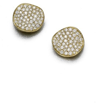 Ippolita Stardust Small 18K Yellow Gold & Diamond Pave Flower Stud Earrings