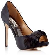 Badgley Mischka Piper Peep Toe D'Orsay High Heel Evening Pumps