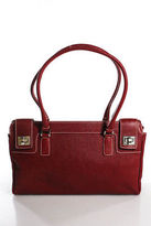 Rafe New York Red Textured Silver Hardware Details Medium Shoulder Bag