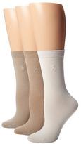 Lauren Ralph Lauren Classic Flat Knit Trouser 3 Pack Women's Crew Cut Socks Shoes