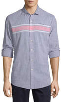 U.S. Polo Assn. Uspa Mens Long Sleeve Striped Button-Front Shirt