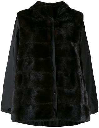 Simonetta Ravizza long sleeve hooded fur coat