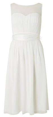 Dorothy Perkins Womens Showcase White Bridal 'Penelope' Midi Skater Dress, White