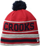 Crooks & Castles Men's Stripe Pom Beanie