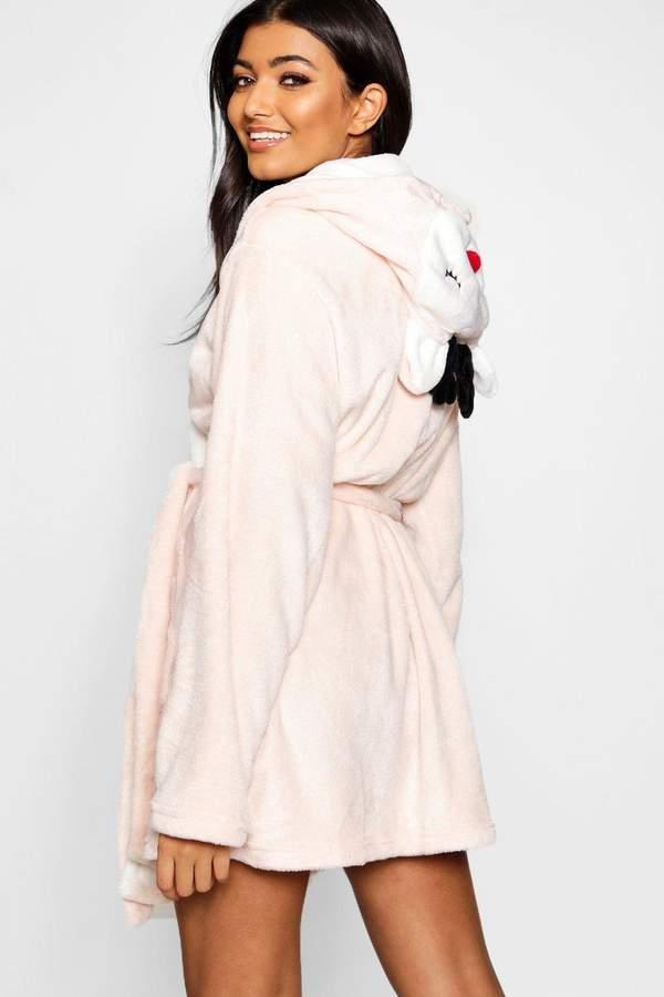boohoo Reindeer Hood Dressing Gown