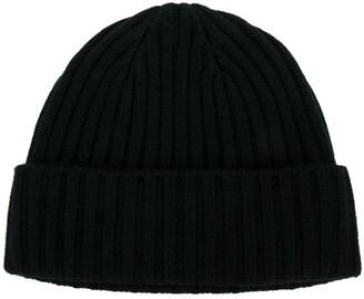 N.Peal chunky ribbed knit beanie hat