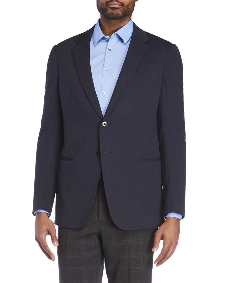 Armani Collezioni Navy Knit Sport Coat