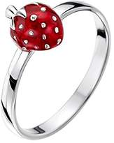 Jo for Girls Sterling Silver Strawberry Ring - Size K