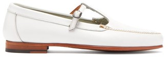 Hereu - Alcala T Bar Leather Loafers - Womens - White